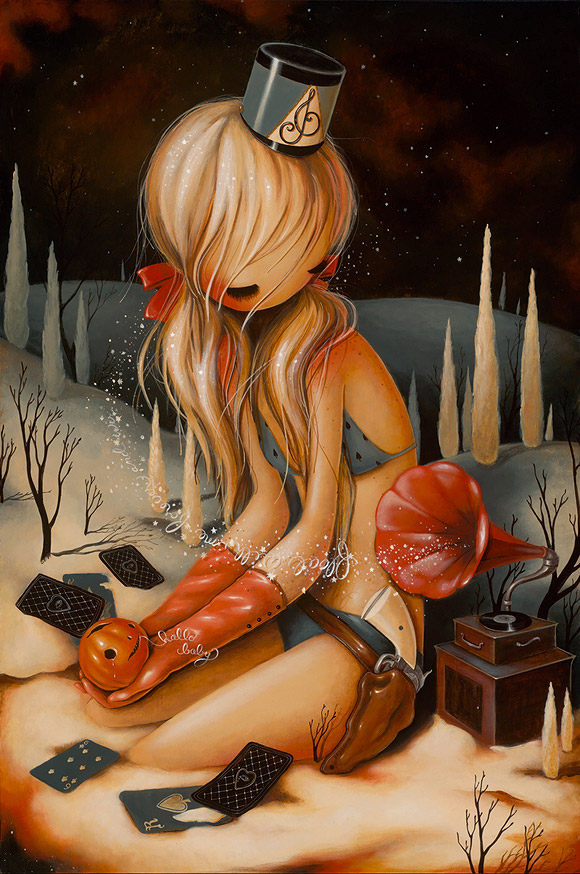 Brandi Milne, Here Alone With You - Before I Hide Away Show at Corey Helford Gallery