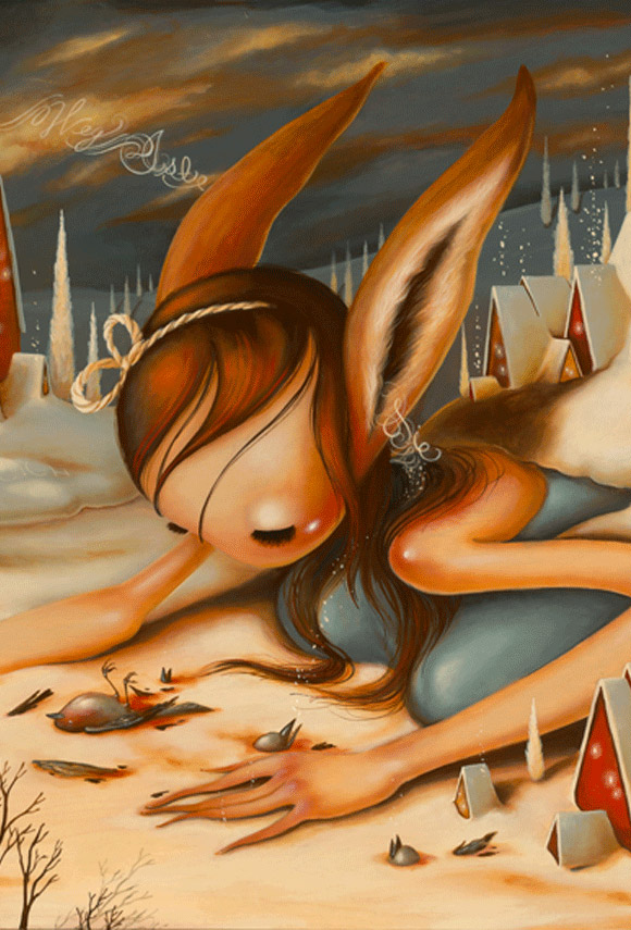 Brandi Milne, I Don't Hear You Anymore - Before I Hide Away Show at Corey Helford Gallery
