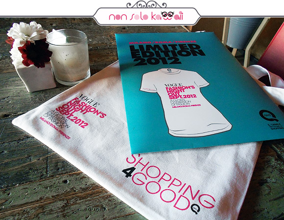 limited edition t-shirt, QVC for Vogue Fashion's Night Out VFNO 2012 Milano