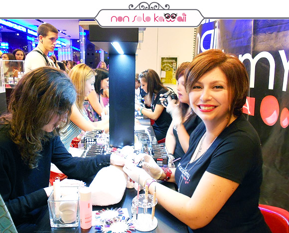 Astasia Trendynail per Pupa Nail Academy for Vogue Fashion's Night Out VFNO 2012 Milano