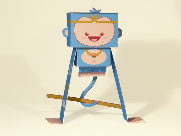 Paper toy by Kawaii Style aka Ivan Ricci at Paper in the Country, Kikoo The Monkey King - Kawaii-Style