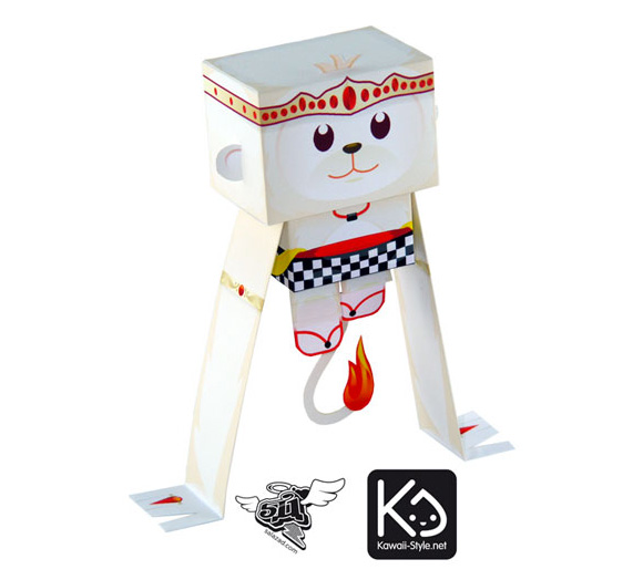 Paper toy by Kawaii Style aka Ivan Ricci at Paper in the Country, Little Hanoman - customized by Sal Azad