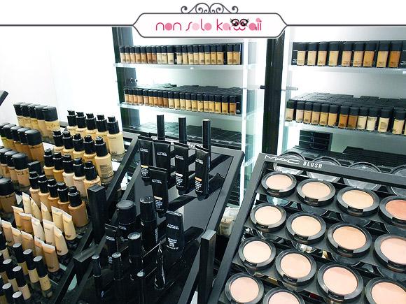 negozio MAC M·A·C Pro Store Milano, fondotinta