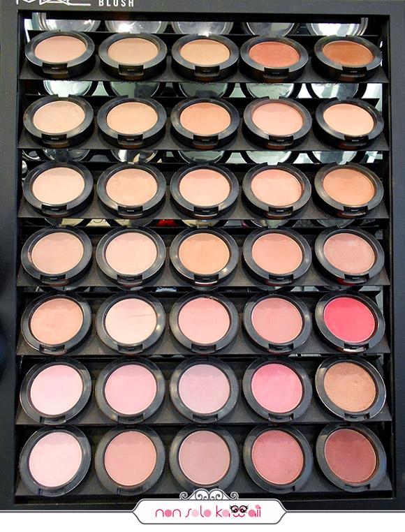 negozio MAC Cosmetics M·A·C Pro Store Milano, blush fard