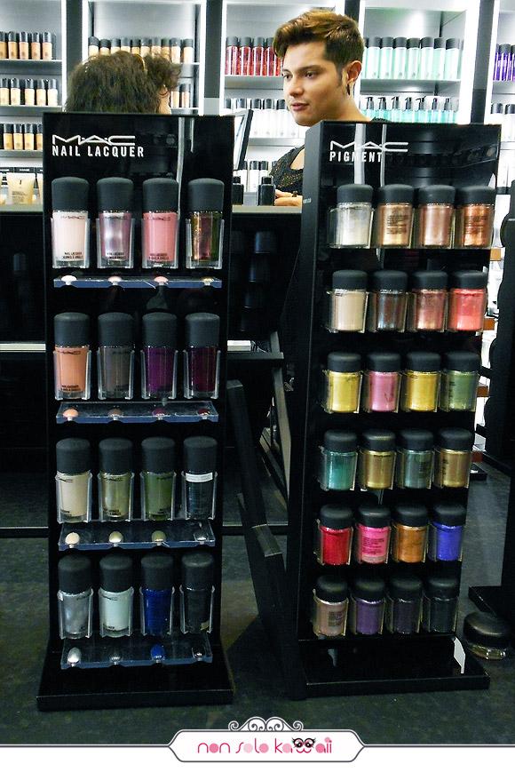negozio MAC Cosmetics M·A·C Store Milano via Torino 18, Nail Lacquer nuova collezione smalti