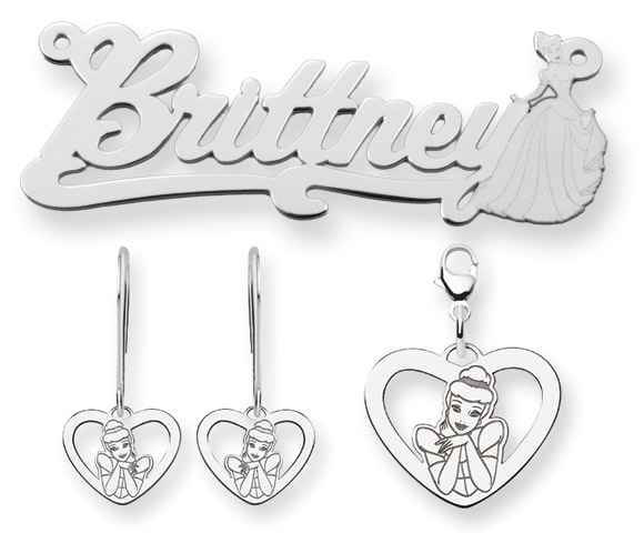Disney Jewelry - Silver Cinderella Earrings and Charms / Orecchini e Pendenti di Cenerentola in Argento