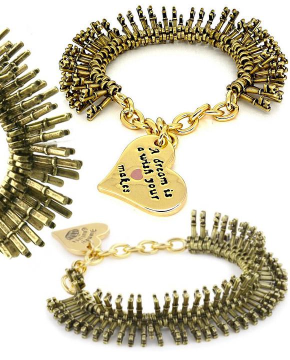 Disney Couture - Cinderella Key Charm Stretch Bracelet / Bracciale Estensibile di Cenerentola con Chiavette