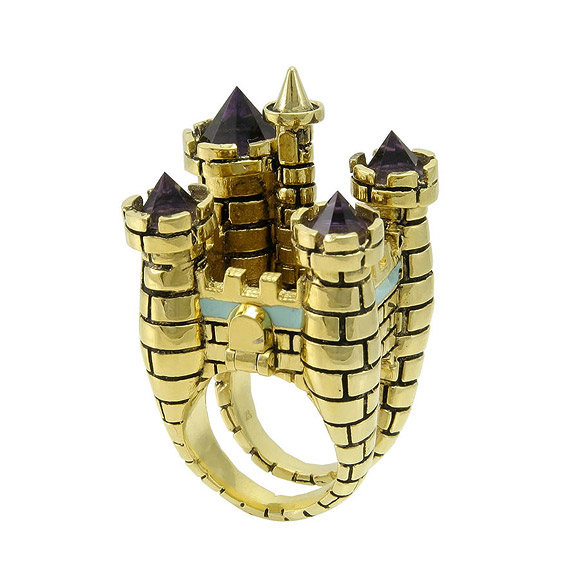 Disney Couture - 3D Magic Castle Ring  / Anello con Castello Incantato 3D