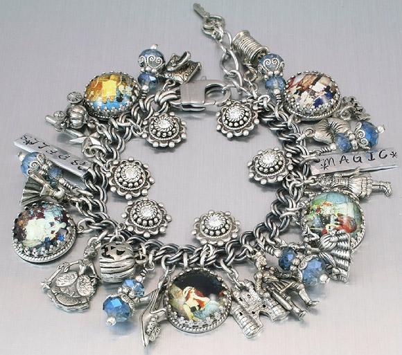 Blackberry Designs - Cinderella Charm Bracelet / Braccialetto di Cenerentola con Charms