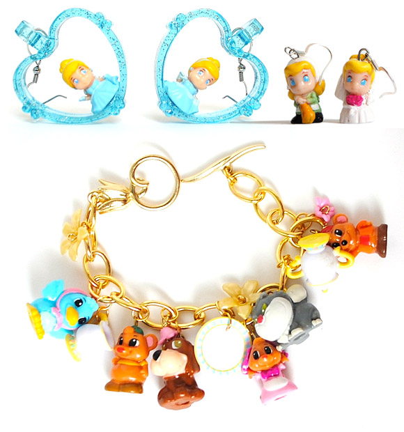 Kawaii Kastle - Cinderella Bracelet and Earrings / Orecchini e Braccialetto Cenerentola