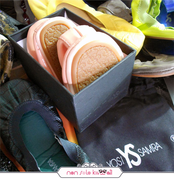 Yosi Samra autunno inverno 2012-2013, packaging delle ballerine shoes