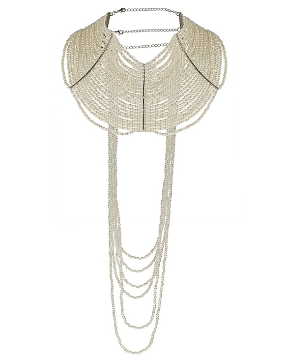 Topshop - Pearl Drape Necklace