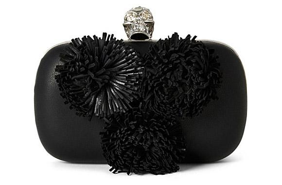Alexander McQueen - Pom Pom Skull box clutch
