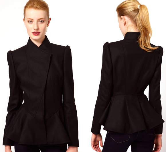 Ted Baker - Short Coat with Peplum