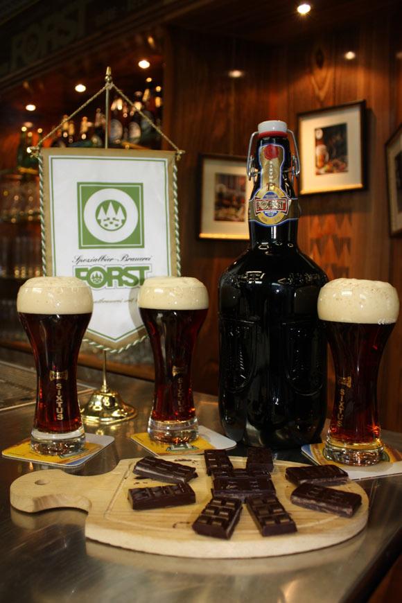 birra Forst e cioccolato