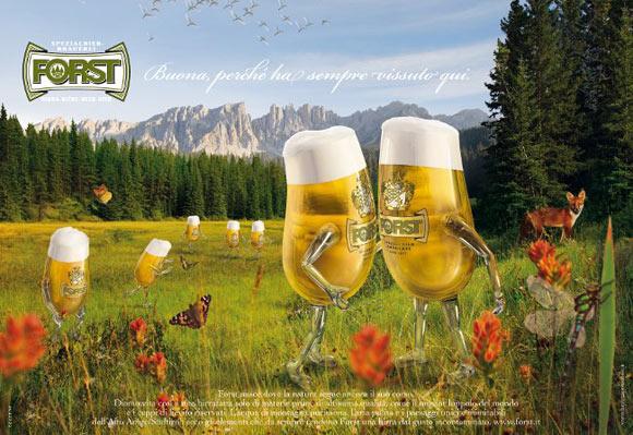 birra Forst pubblicità