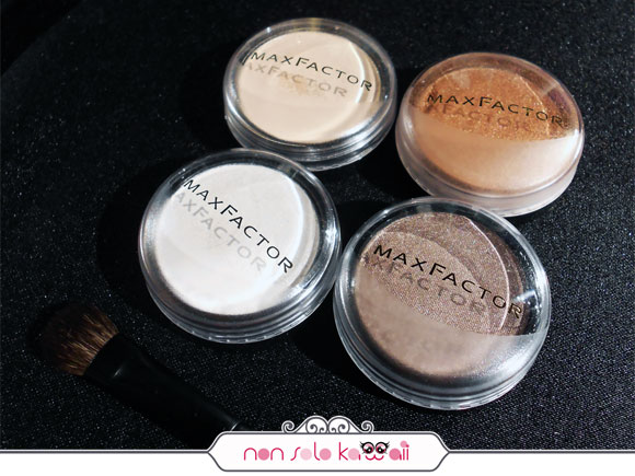 Max Factor Earth Spirits, 101 Pale Pebble + 107 Burnt Bark + 116 Wicked White