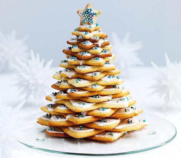 Albero di Natale con Biscotti a Forma di Stella - Star Cookie Christmas Tree