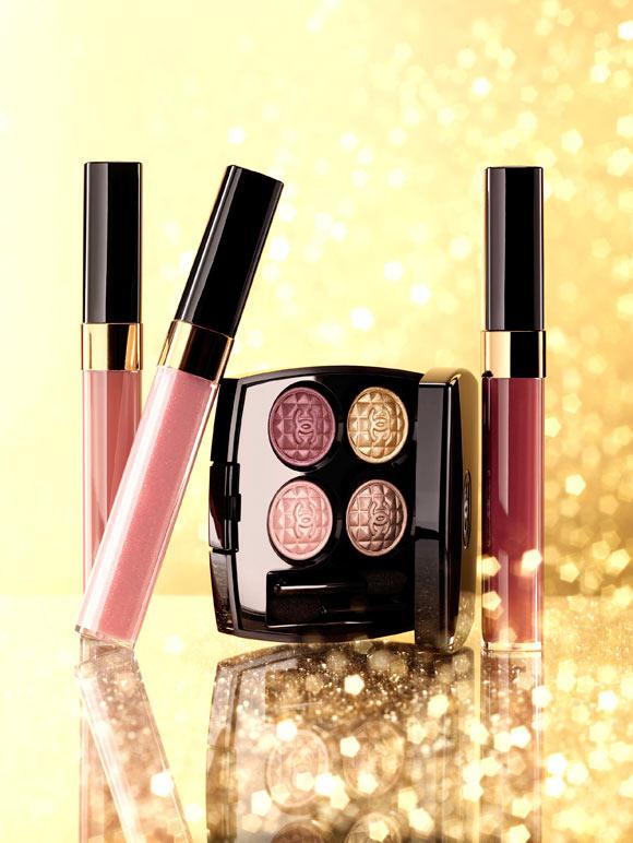 Chanel - Lèvres Scintillantes, 357 Mystery, 347 Allégorie  & 367 Intrigue, Éclats du Soir de Chanel