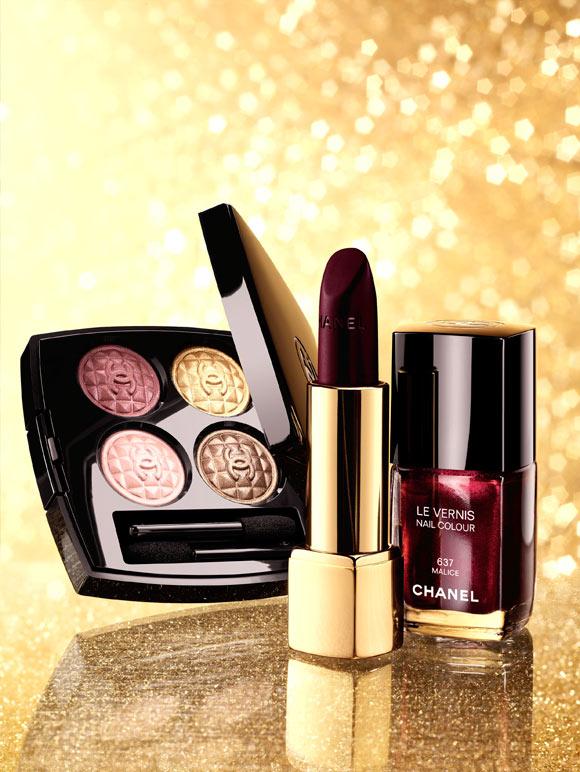 Chanel - Rouge Allure Velvet 307 L'Impatiente & Le Vernis 637 Malice, Éclats du Soir de Chanel