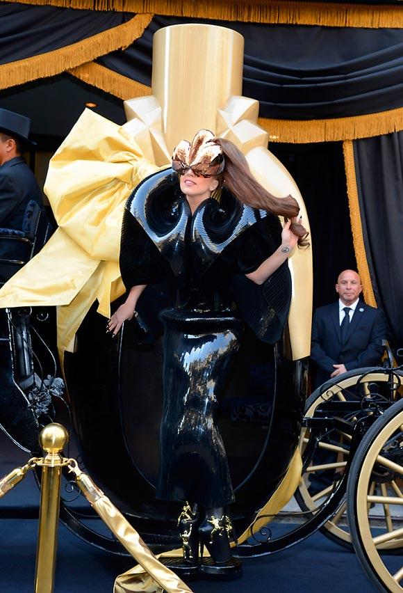 Lady Gaga Fame perfume, il primo profumo nero, launch at Macy's Herald Square in New York City