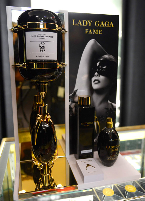 Lady Gaga Fame perfume, il primo profumo nero, launch at Macy's Herald Square in New York City