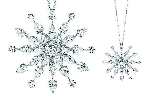 Diamond Earrings Snowflake Tiffany