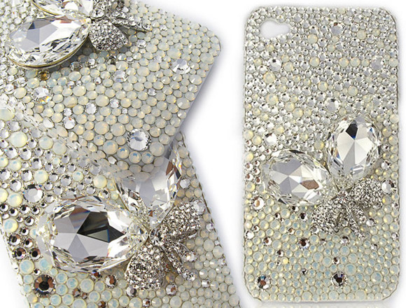 Diamond iPhone - Crystal Butterfly iPhone 4 4S Case, iphone case con strass