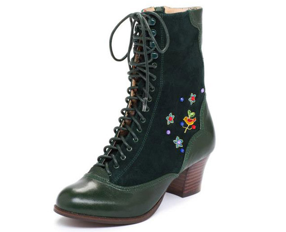 Christmas Pixie: Miss L Fire - Mandalay Green boots, stivaletti da elfo