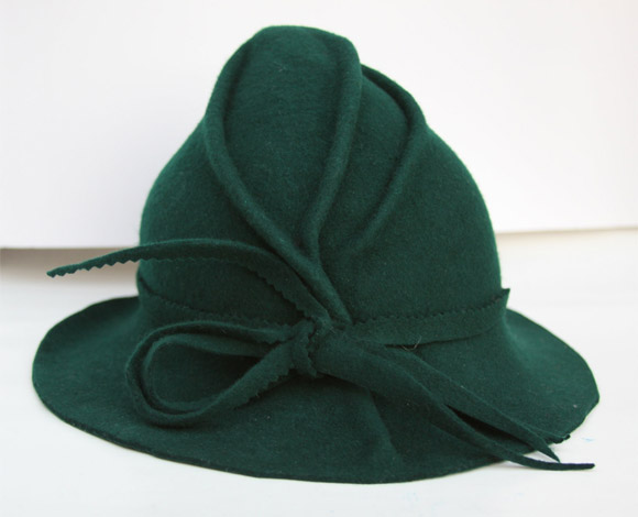 Christmas Pixie: PerhapsTurquoise - Hunter Green hat, cappello da folletto
