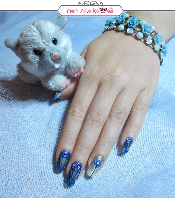 Cinderella Nail Art, Cenerentola Nail Art, Orly Naughty Or Nice