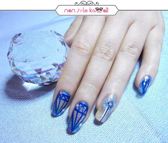 Cinderella Nail Art, Cenerentola Nail Art, Orly Naughty Or Nice