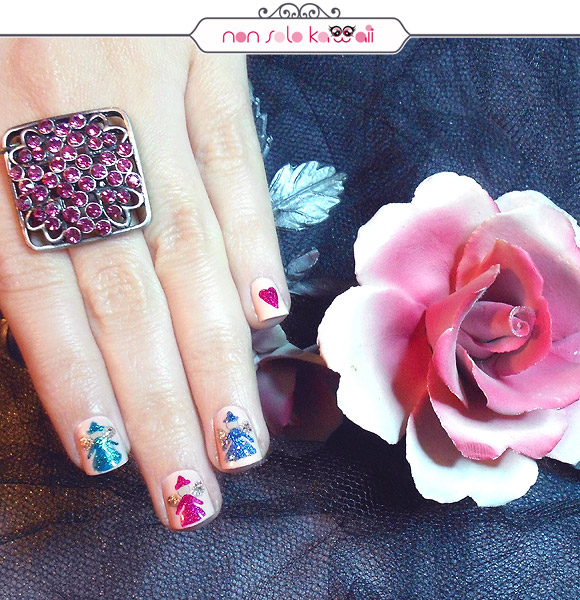 Aurora La Bella Addormentata nel Bosco Nail Art, Aurora the Sleeping Beauty Nail Art, Orly Naughty Or Nice