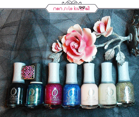 Le Chateau, Halleys Comet, Miss Conduct, Angel Eyes, Prelude To A Kiss, Glow, Halo, Orly Naughty Or Nice