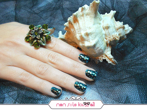 Ariel La Sirenetta Nail Art, Ariel the Little Mermaid, Orly Naughty Or Nice
