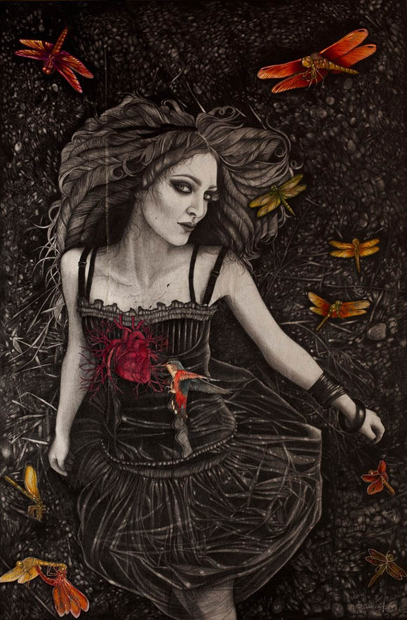 Alessia Iannetti, Self-portrait with Sacred Heart