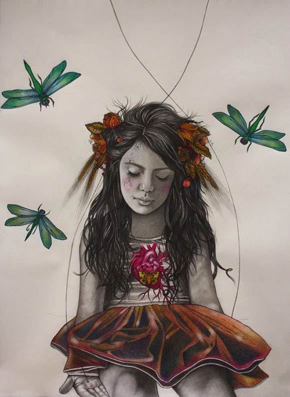 Alessia Iannetti, Frances with Dragonflies