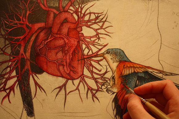 Alessia Iannetti, Self-portrait with Sacred Heart (Detail)