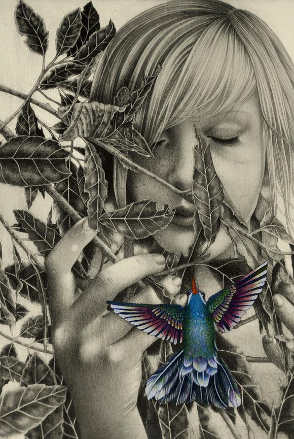 Alessia Iannetti, Blue Throat (Detail)