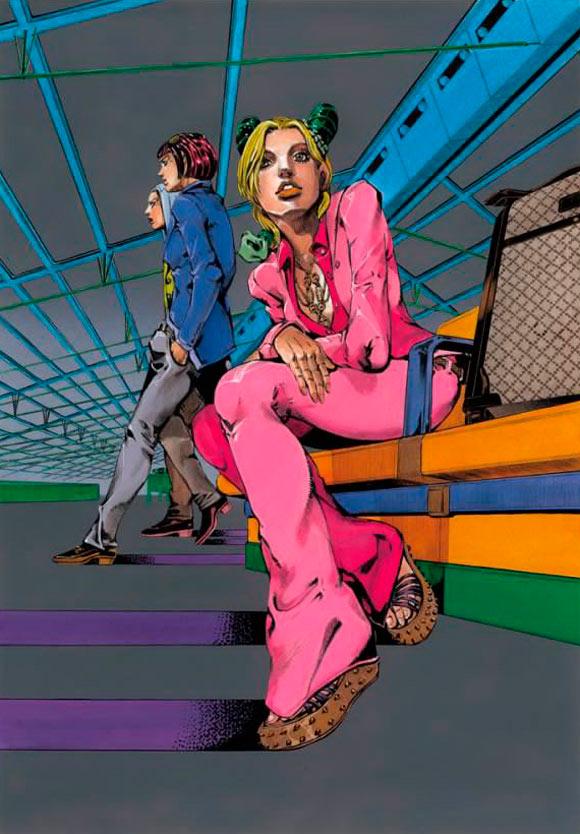 Hirohiko Araki for Gucci, fashion manga - Cruise Collection 2013, completo fucsia