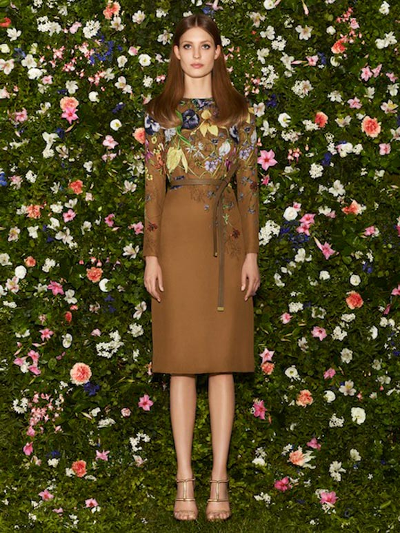 Gucci - Cruise Collection 2013, abito flora marrone