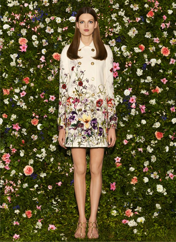 Gucci - Cruise Collection 2013, cappotto bianco flora