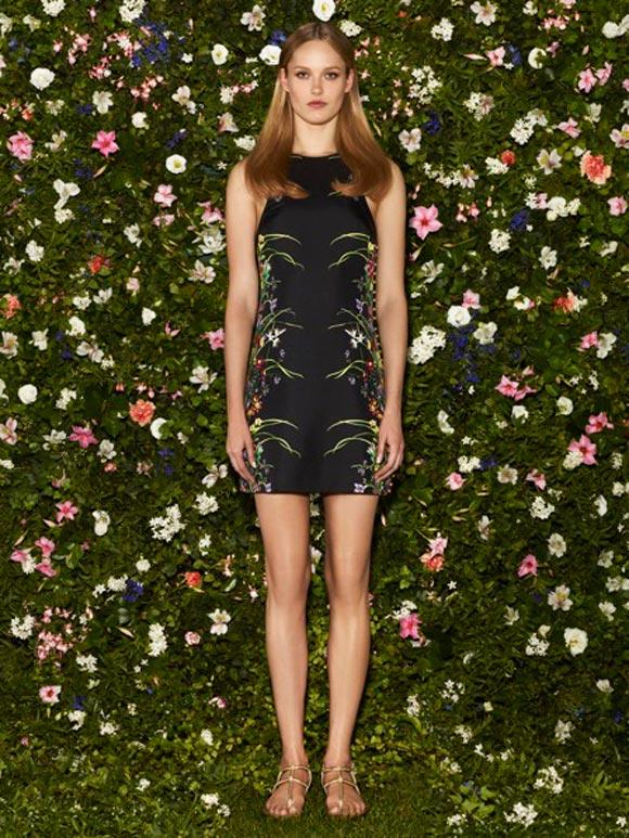 Gucci - Cruise Collection 2013, abito nero flora