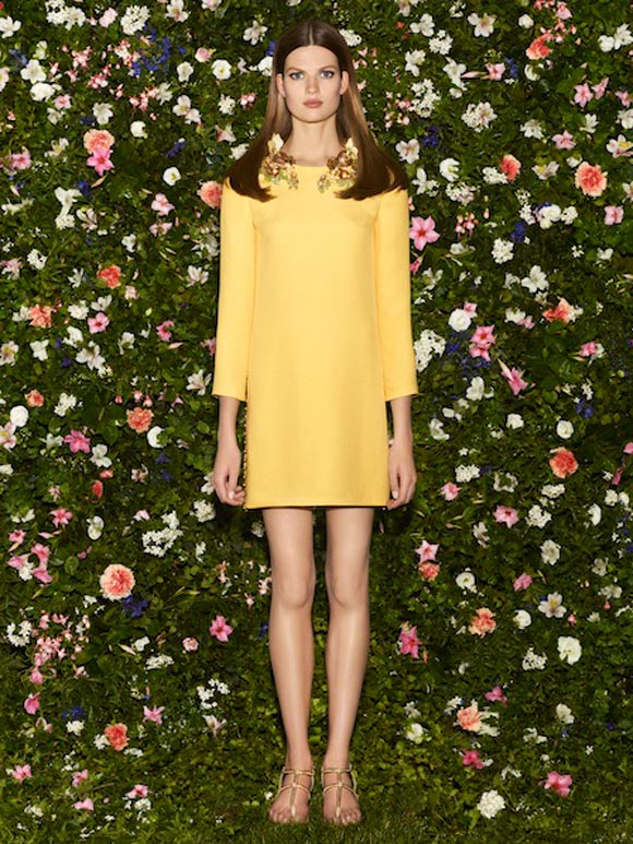 Gucci - Cruise Collection 2013, abito giallo