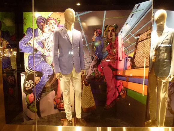 Hirohiko Araki for Gucci, fashion manga - boutique