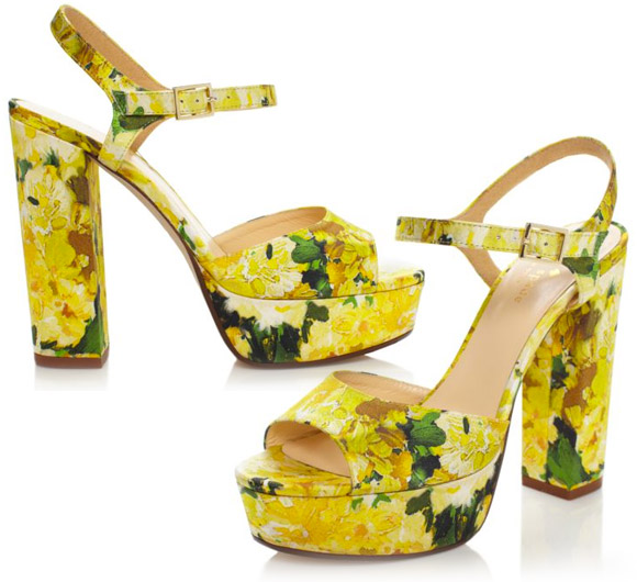 yellow shoes, Kate Spade - Ila heels