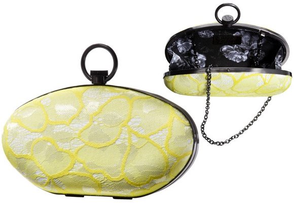 Prabal Gurung For Target - Lace Hard Sided yellow Clutch