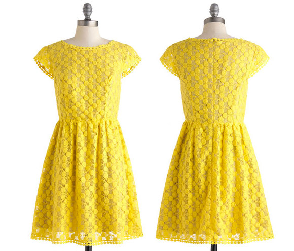 yellow mimosa dress by Kensie - Girls Just Wanna Have Sun Dress