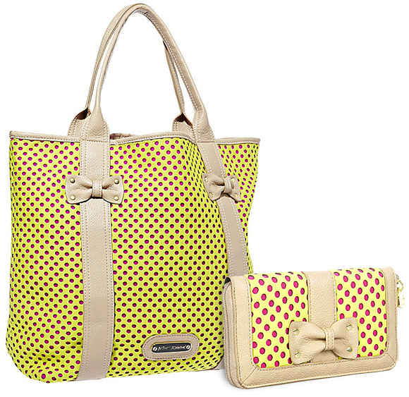 Betsey Johnson - Scuba Gal Perforated yellow Tote