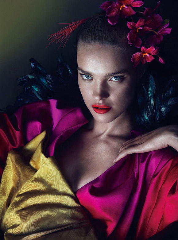 Mert Alas and Marcus Piggott for W Magazine with Kate Moss, Lara Stone, Natalia Vodianova